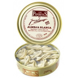 Almeja Blanca en Conserva, Conservas Los Peperetes, lata 150 gr. 20/24 pzs.
