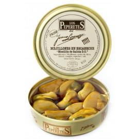 Mejillones en Escabeche en Conserva, Conservas Los Peperetes, lata 150 gr. 10/12 pzs.