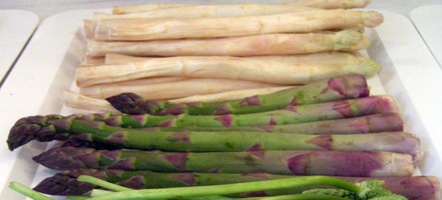 Blog ADNartesano - Propiedades de los espárragos blancos y trigueros - Espárragos verdes y espárragos blancos