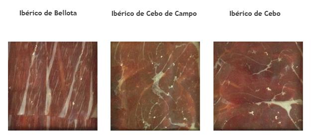 Blog ADNartesano - Jamón ibérico de bellota, recebo y cebo - Tres tipos