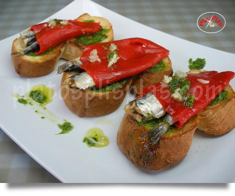 Blog ADNartesano - Recetas - Pinchos de pimientos del piquillo y sardinas